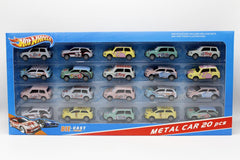 Hot Wheels Pull Back Cars Set Die Cast Metal Pack of 20 Pcs (603)