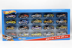 Hot Wheels Pull Back Cars Set Die Cast Metal Pack of 20 Pcs (912)