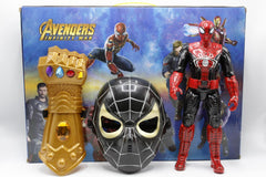 Avengers Spider Man Figure And Mask And Arm Toy (HT727)