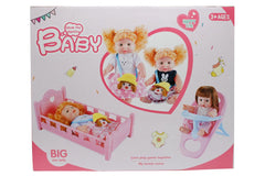 Baby Stuffed Doll Cradle & Food Chair Set (7108-3)