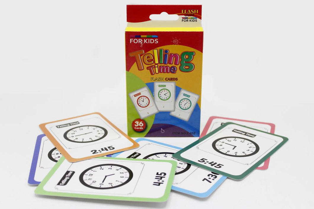Telling Time Flash Cards (F-052)