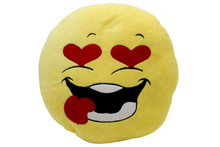 Load image into Gallery viewer, Kiss Emoji Cushion Yellow