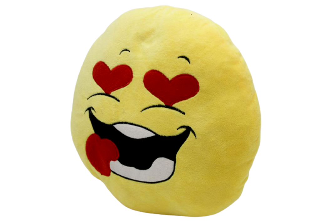 Kiss Emoji Cushion Yellow