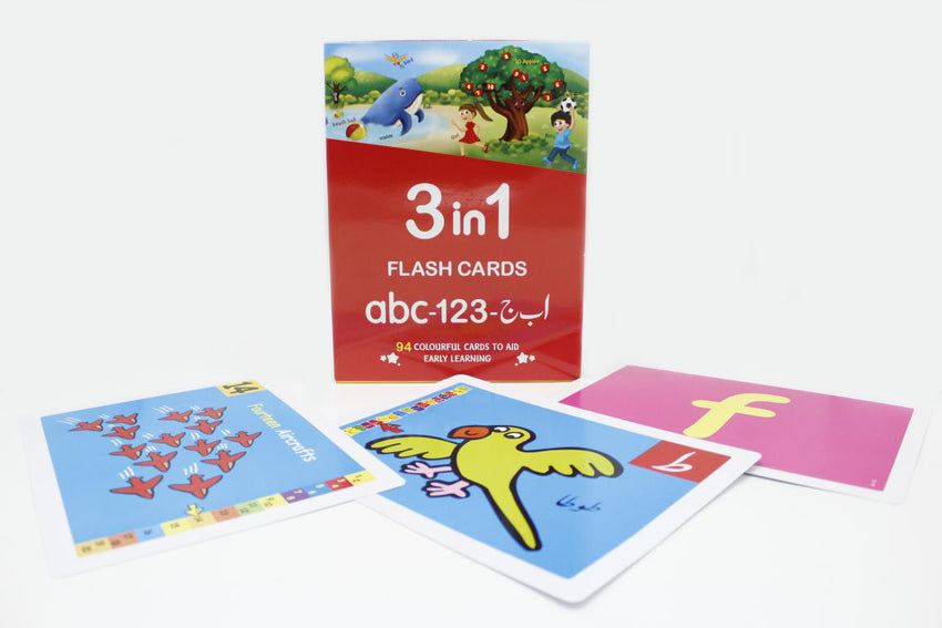 Flash Cards 3 In 1 Small abc - 123 - Alif Bay