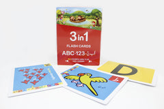 Flash Cards 3 In 1 Capital ABC - 123 - Alif Bay