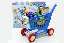 Load image into Gallery viewer, Happy Mini Shopping Cart/Trolley With Full Grocery Food Toy Play Set For Kids (ZD588-5)