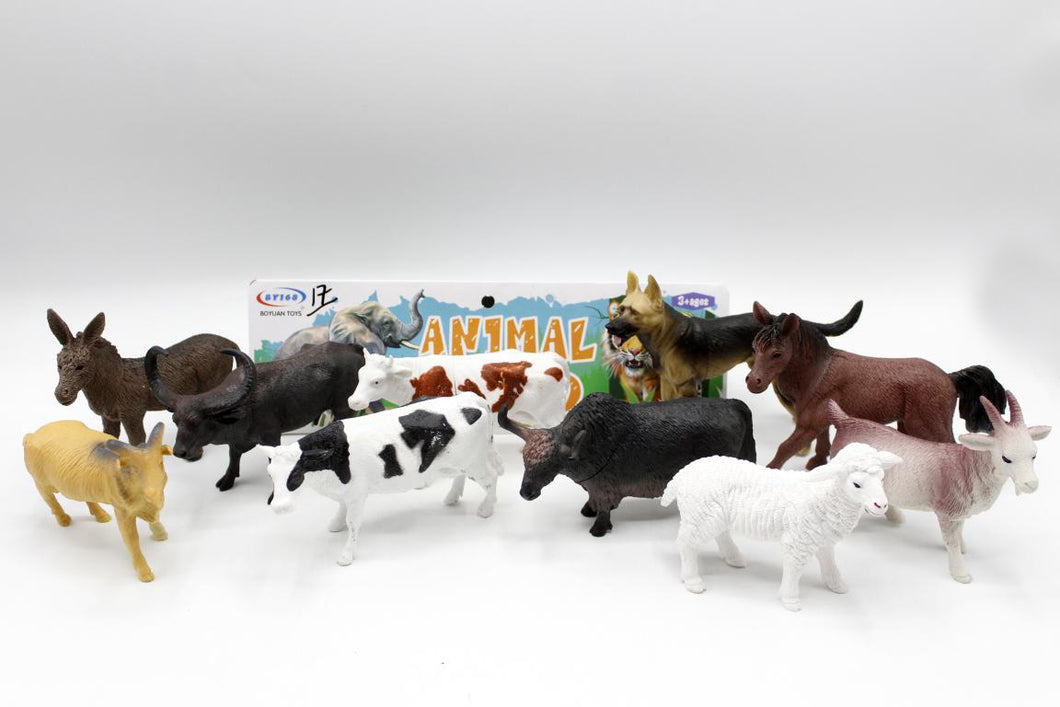 Farm Animal Rubber Set (BY168-1A)