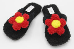 Cute Flower Fur Slipper