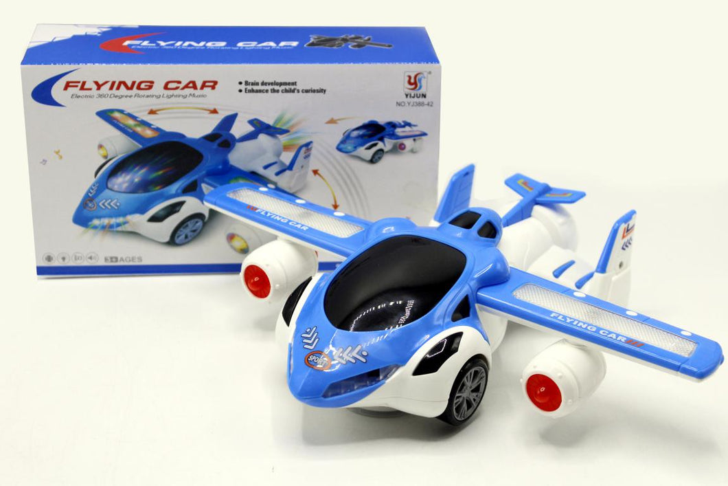 Flying Car Bump & Go With Lights & Sound Battery Operated Toy (YJ388-42)