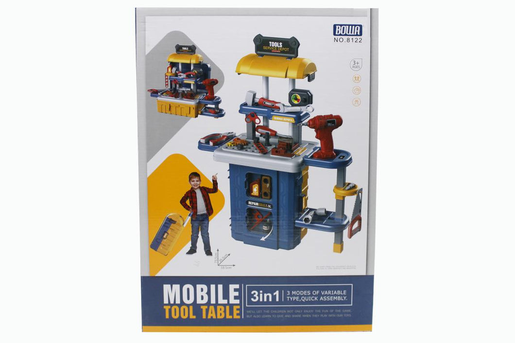 Mobile Tool Table 3 In 1 Suitcase, Luggage Bag Toy (8122)