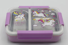 Unicorn Stainless Steel Lunch Box Purple (XY-J138)