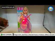 Load and play video in Gallery viewer, Fashion Girl With Guitar Bump & Go Battery Operated Toy (701)