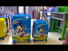 Load and play video in Gallery viewer, Mickey Mouse 4 Wheels Children Kids Luggage Travel Bag / Suitcase