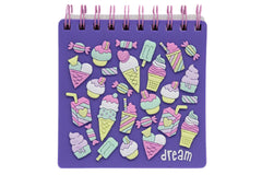 Ice Cream Jelly Cover Purple Notebook Diary (KC3083)