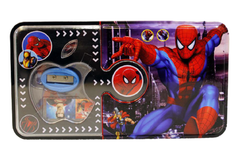 Spider Man Metallic Pencil Box With Stationary (GP018-1)