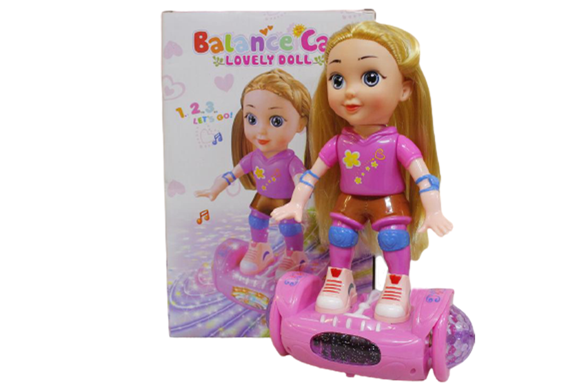 Lovely Doll Balance Car Battery Operated Toy (9409)