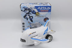 Air Bus Aeroplane Deformation Robot Battery Operated Toy (8995)