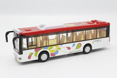 Luxury Bus Model Red With Light & Sound (6011B)