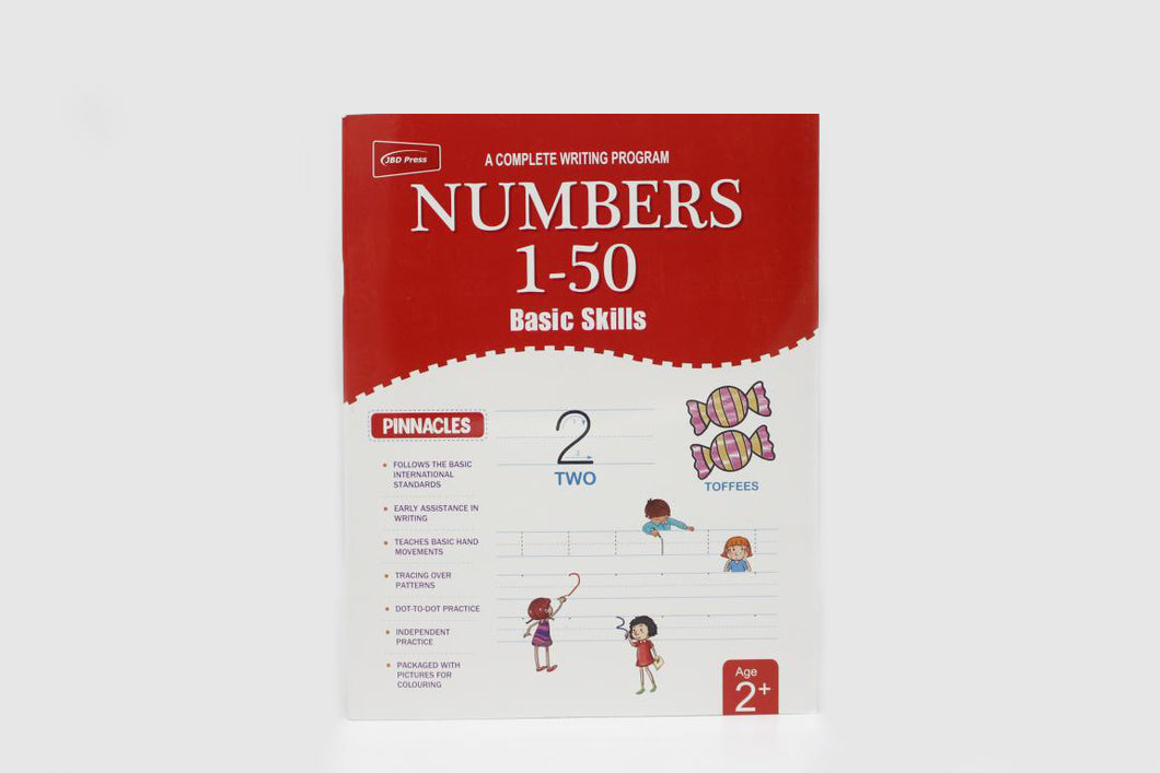 Writing Numbers 1-50 Basic Skills Book (2052)