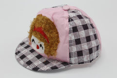 Baby Hat Children Cap Light Pink Black Line