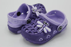 Crocs Dragonfly Butterfly Purple Clog (19 to 23)