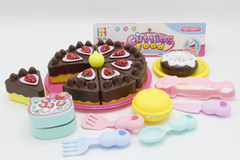 Cutting Food Chocolate Cake And Donut Set Toy (6011-1A)