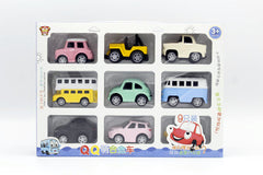 Die Cast Model Cars 9 Pcs Set (1366A)