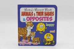 Animals & Their Babies & Opposites Baby's Board Book