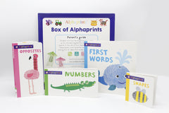 Box of Alphaprints Pack of 4 Board Books