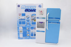 Modern Home Fridge & Dispenser Set (2550B)