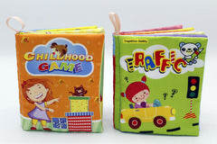 Fabric Book Pack of 2 Childhood Game And Traffic (KC3055)
