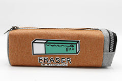 Eraser Brown Pencil Pouch (LE-9026A)