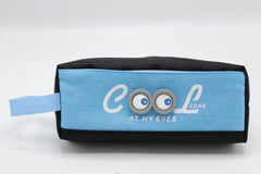 Cool Pencil Pouch Blue & Black (C-6402)