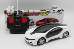 3D Famous White Remote Control Car (V535)