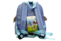 Sofia Light Blue Backpack Bag (9029#)