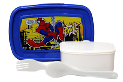 Spider Man Lunch Box With Spoon And Fork (HK-101)