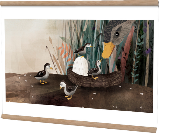 Poster, The Ugly Duckling, six different illustrations