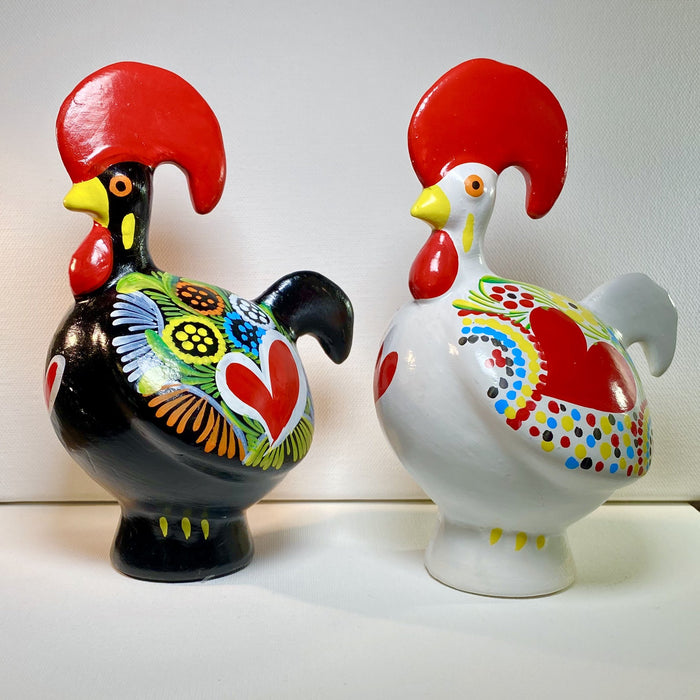 Barcelos Rooster Piggy Bank (Black or White Ceramic)