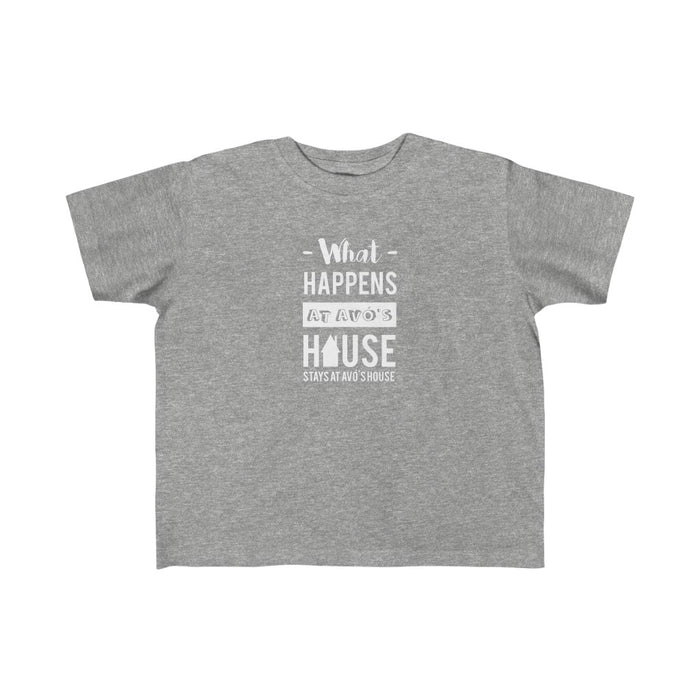 Toddler Size What Happens at Avó's House T-Shirt (2T-4T)