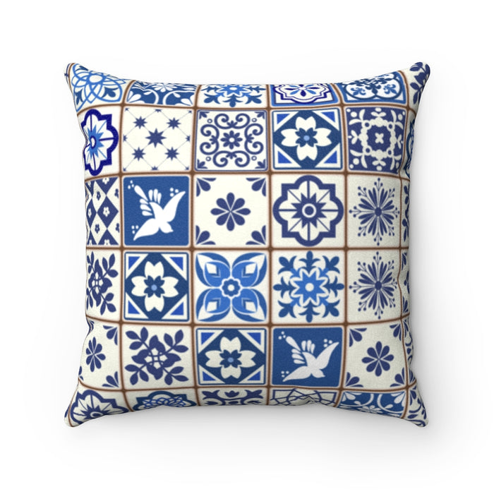 Portuguese Tile Decorative Pillow