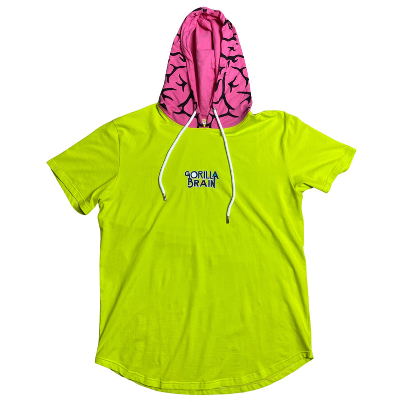 "Gorilla Brain ""SAFETY GREEN"" Hoodie Tee"