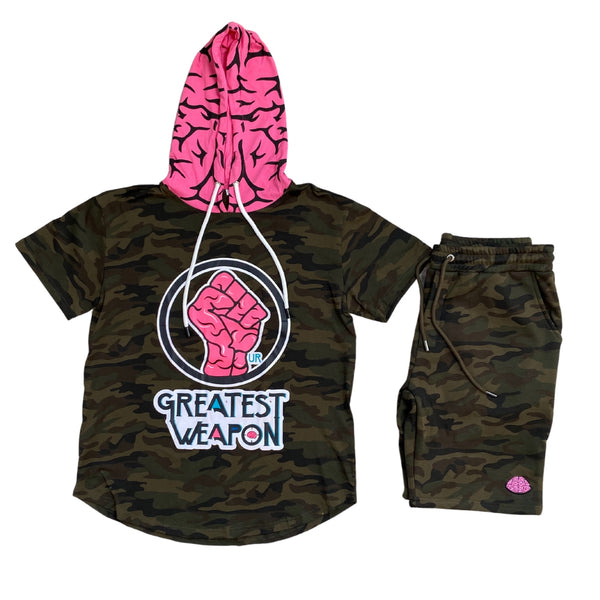 "Camouflage Limited edition ""Our Greatest Weapon"" Hoodie Tee"