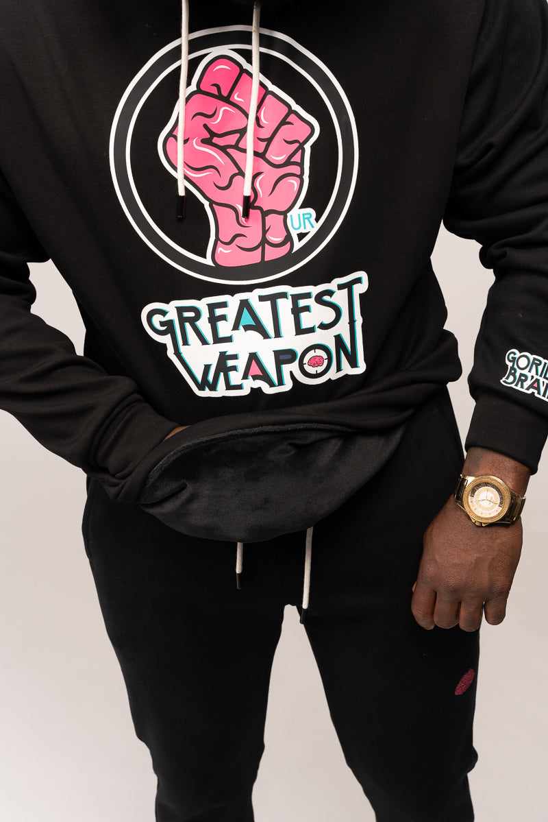 "Limited Edition ""Our Greatest Weapon"" Hoodie with Genius Brain"