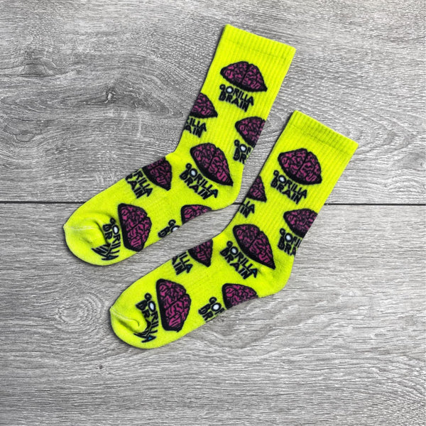 "Seymour Yellow ""Brain Gang"" Socks"