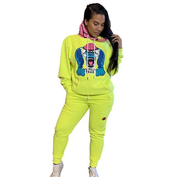Genius Brain 'Neon Banana' Seymour Genius Hoodie Set
