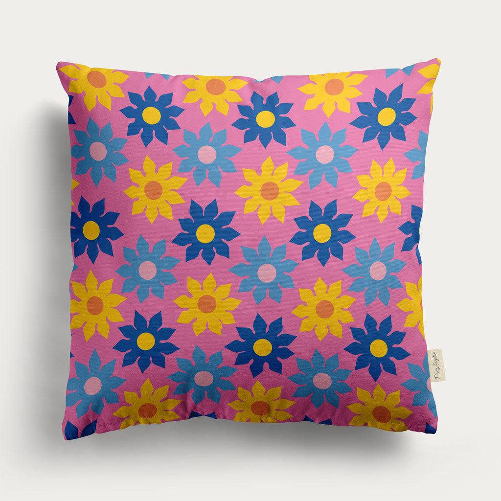 pink floral sofa cushion
