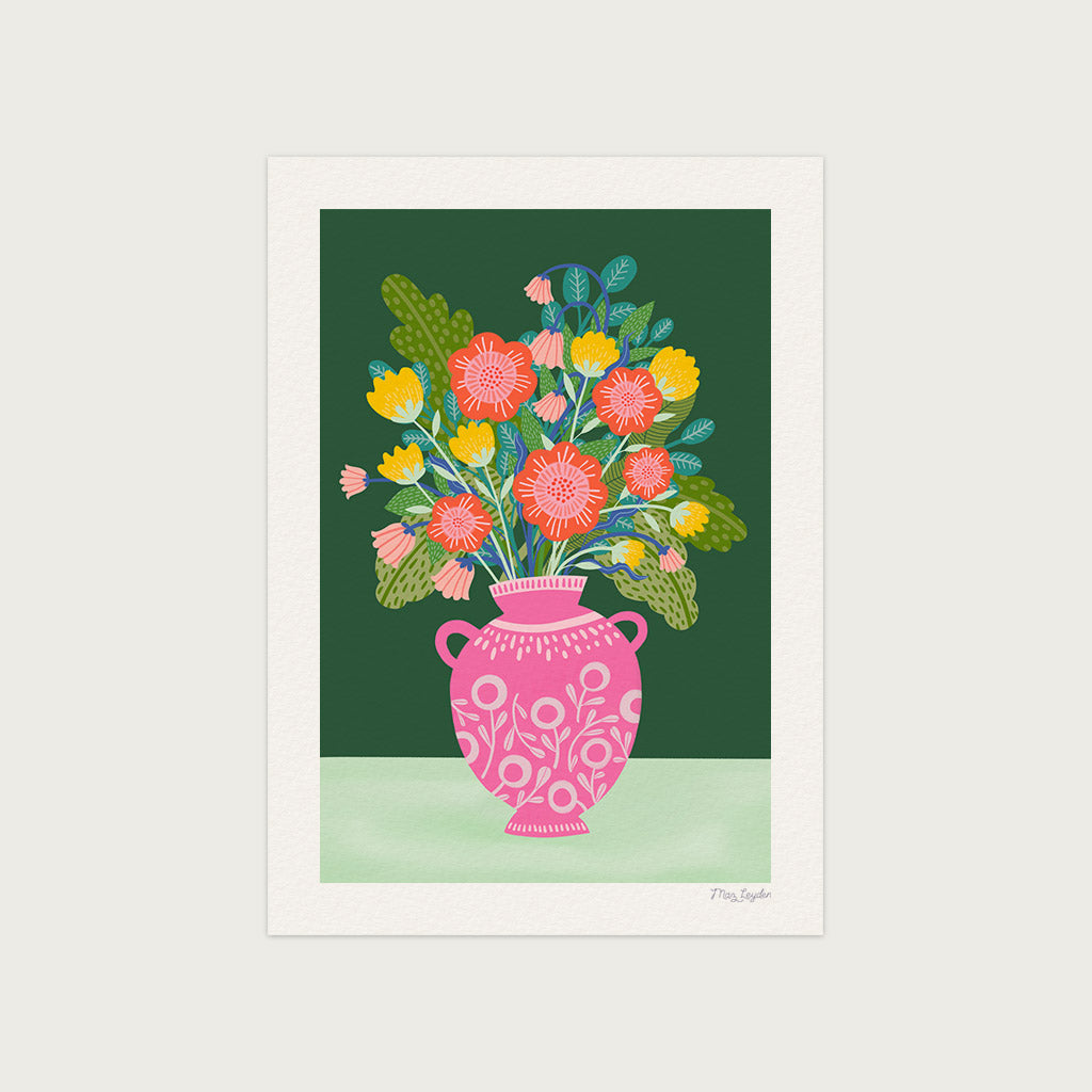 Flowers in a Vase 2 Art Print