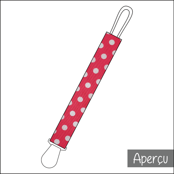Attache-suce - Rose à pois