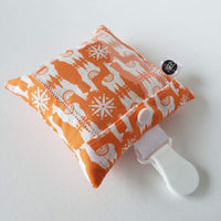 Coussin photo pour doudou - Orange lamas