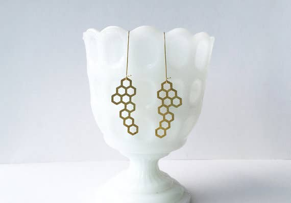 Honeycomb Earrings | Large